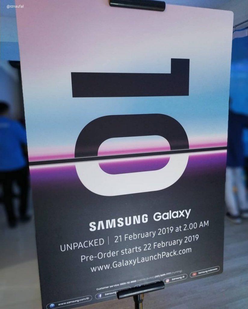 Samsung Galaxy 10 предпродажи